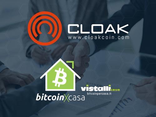 CloakCoin Announces Important Partnership with Vistalli Casa-BitcoinXcasa