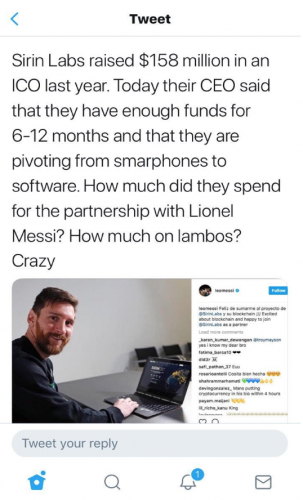 twitter-post-of-sirin-labs-with-football-star-lionel-messi.png