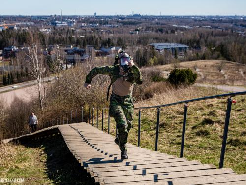 Finnish military surplus store Varusteleka entices people to march around the world