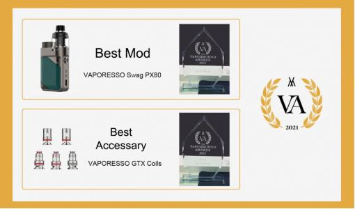 VAPORESSO Swag PX80 named Best Mod at 2021 Vapouround Awards