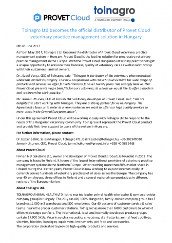 press-release-tolnagro-provet.pdf
